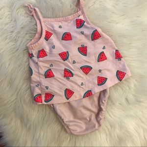 Carter's One Pieces - Carter's Baby Girl Watermelon SunSuit 9M